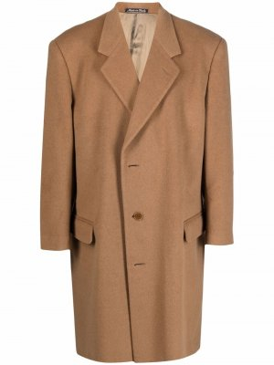 1990s single-breasted long coat Valentino Pre-Owned. Цвет: нейтральные цвета