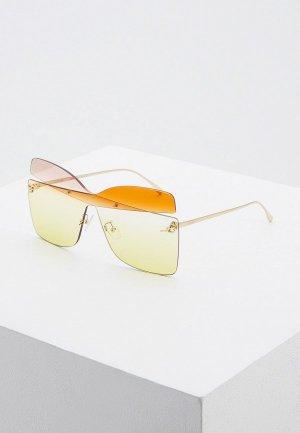 Очки солнцезащитные Fendi FF 0399/S 6R2. Цвет: золотой