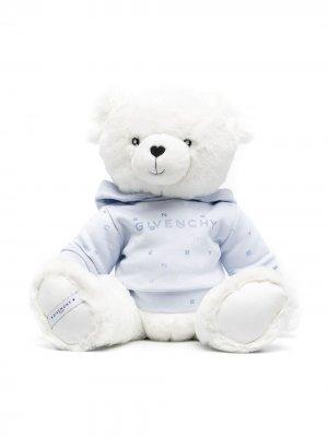 Мягка игрушка в виде медведя с логотипом Givenchy Kids. Цвет: белый