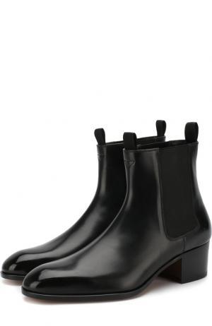 Кожаные челси на устойчивом каблуке Tom Ford. Цвет: чёрный