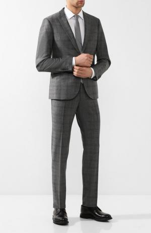 Шерстяной костюм с пиджаком на двух пуговицах Drykorn. Цвет: серый