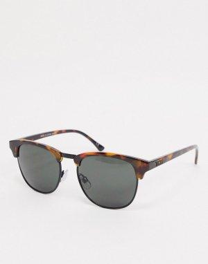 Солнцезащитные очки с гепардовым принтом -Коричневый Vans