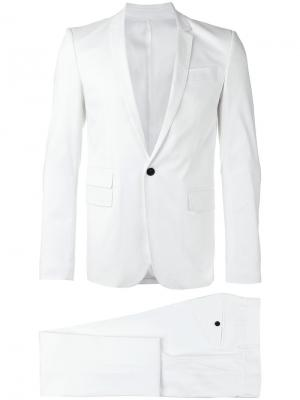 Однобортный костюм Les Hommes. Цвет: белый