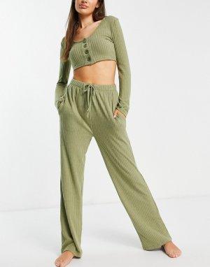 Комплект одежды для дома цвета хаки Noon-Зеленый цвет Brave Soul