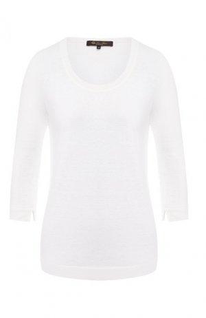 Льняной пуловер Loro Piana. Цвет: белый
