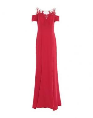 Длинное платье LEXUS. Цвет: красный