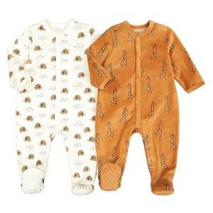 Комплект из 2 пижам цельных LaRedoute. Цвет: бежевый
