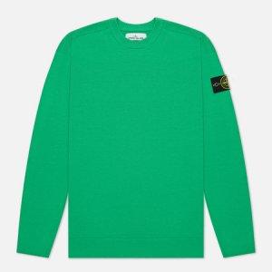 Мужской свитер Classic Ribbed Neck Wool Stone Island. Цвет: зелёный