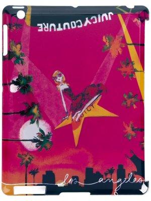 Чехол для планшета с принтом Juicy Couture. Цвет: розовый