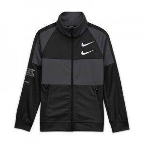 Куртка для мальчиков школьного возраста Sportswear Swoosh - Черный Nike