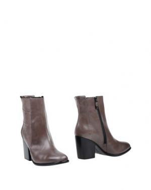 Полусапоги и высокие ботинки ALBERTO FERMANI. Цвет: серый