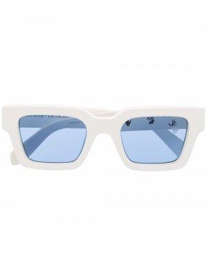 Солнцезащитные очки в оправе с логотипом Off-White. Цвет: белый