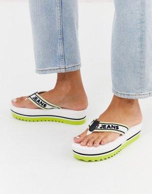 Сандалии на плоской платформе Tommy Jeans-Белый Hilfiger
