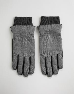 Перчатки с принтом зигзаг Jaden-Серый Boardmans