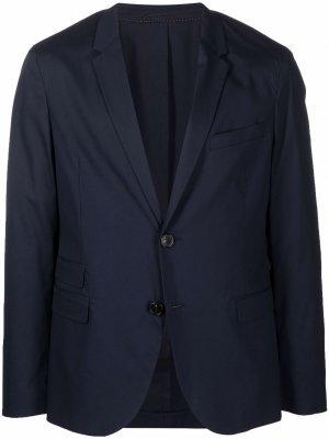 Однобортный пиджак с заостренными лацканами Neil Barrett. Цвет: синий