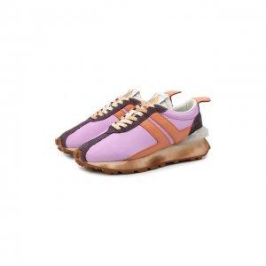 Текстильные кроссовки Lanvin. Цвет: разноцветный