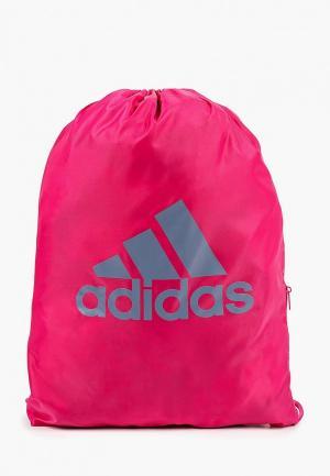 Мешок adidas GYMSACK SP. Цвет: розовый