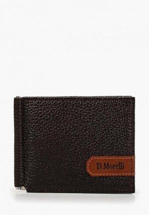 Зажим для купюр D.Morelli. Цвет: коричневый