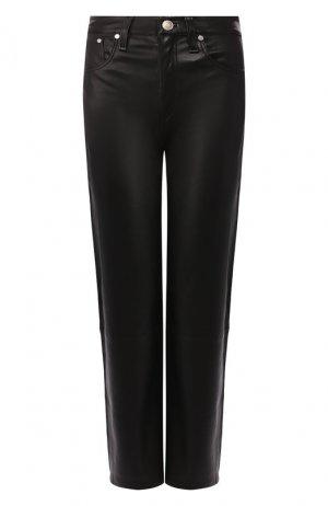 Кожаные брюки Rag&Bone. Цвет: чёрный