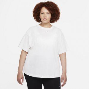 Женская футболка оверсайз с коротким рукавом Sportswear Essential (большие размеры) - Белый Nike