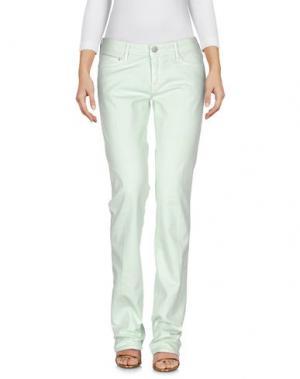 Джинсовые брюки CARE LABEL. Цвет: светло-зеленый