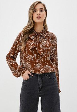 Блуза b.young. Цвет: коричневый