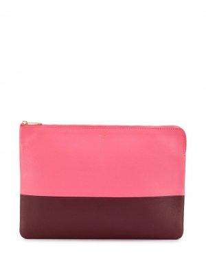 Клатч на молнии Céline Pre-Owned. Цвет: розовый