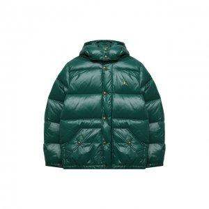 Пуховая куртка Polo Ralph Lauren. Цвет: зелёный
