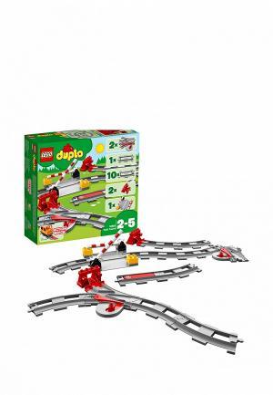 Конструктор DUPLO LEGO Рельсы и стрелки 10882. Цвет: разноцветный