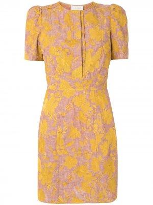 Платье Prairie с цветочным принтом Karen Walker. Цвет: желтый