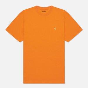 Мужская футболка S/S Chase Carhartt WIP. Цвет: оранжевый