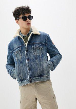 Куртка джинсовая Polo Ralph Lauren. Цвет: голубой