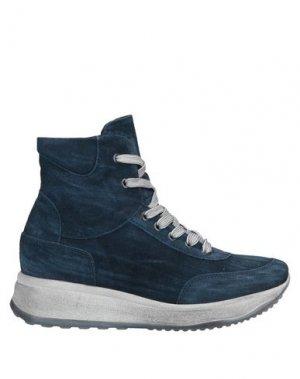 Высокие кеды и кроссовки ALBERTO BRESSAN. Цвет: грифельно-синий