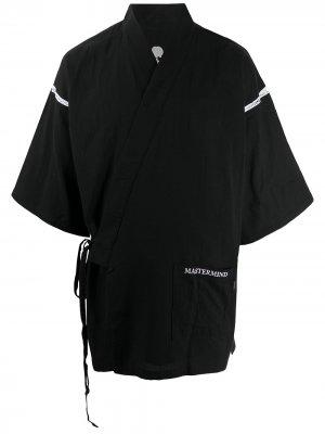 Кимоно с завязками Mastermind Japan. Цвет: черный