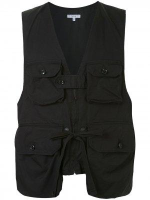 Жилет с карманами карго Engineered Garments. Цвет: черный