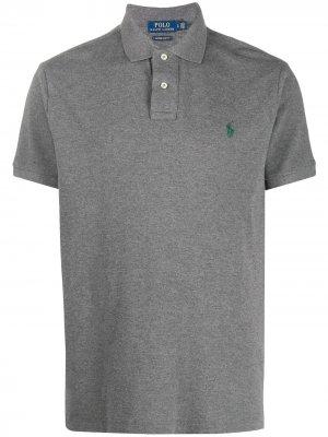 Рубашка-поло с контрастным логотипом Polo Ralph Lauren. Цвет: серый