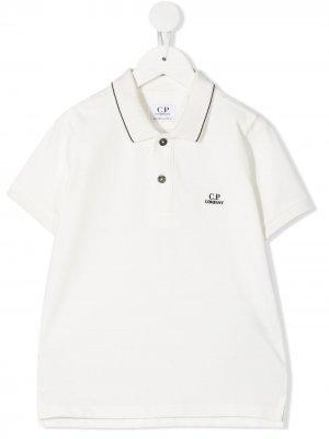 Рубашка поло с нашивкой-логотипом C.P. Company Kids. Цвет: белый