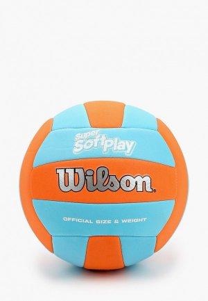 Мяч волейбольный Wilson SUPER SOFT PLAY VB ORBLU. Цвет: разноцветный