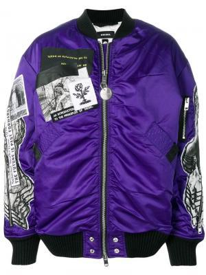 Куртка-бомбер в стиле оверсайз Diesel