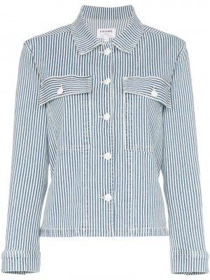 Куртка-рубашка Engineer в полоску FRAME. Цвет: синий