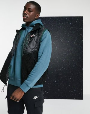 Черный жилет со вставками из флиса Heritage Essentials Winter Nike