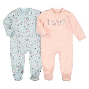 Комплект из 2 пижам цельных LaRedoute. Цвет: розовый