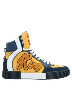 Кеды и кроссовки DOLCE & GABBANA. Цвет: желтый