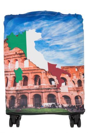 Чехол на чемодан Gianni Conti. Цвет: мультицвет, синий