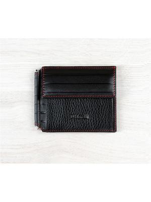 Зажим для денег, с монетником, Амадей черный Domenico Morelli. Цвет: черный
