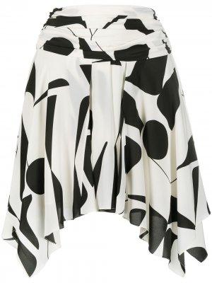 Мини-юбка с графичным принтом Isabel Marant. Цвет: белый