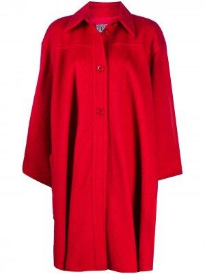 Пальто-кейп 1980-х годов Gianfranco Ferré Pre-Owned. Цвет: красный