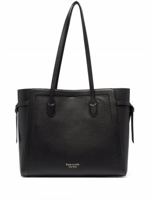 Фактурная сумка-тоут Kate Spade. Цвет: черный