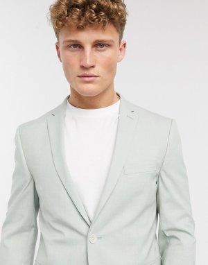 Узкий пиджак мятного цвета -Зеленый Esprit