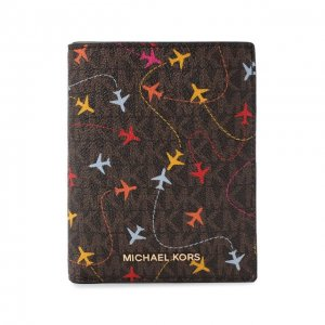 Обложка для паспорта MICHAEL Kors. Цвет: коричневый